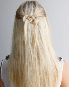 Easy Half Updo Hairstyles