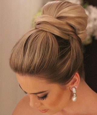Elegant High Bouffant Bun Hairstyles