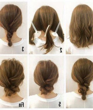 Easy Updo Hairstyles For Medium Length Hair