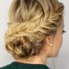 Fishtail Braid Updo Hairstyles (Photo 2 of 25)