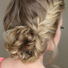 French Braid Buns Updo Hairstyles (Photo 8 of 25)
