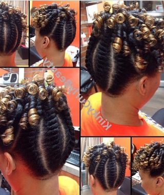 Spiral Curl Updo Hairstyles