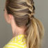 Half French Braid Ponytail Hairstyles