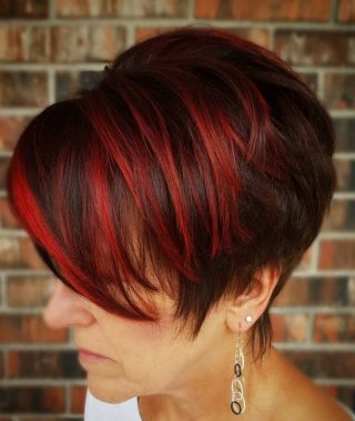 Pageboy Maroon Red Pixie Haircuts