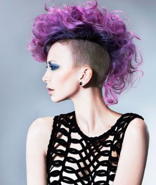 Pink And Purple Mohawk Hairstyles