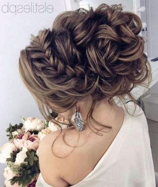 Curled Floral Prom Updos