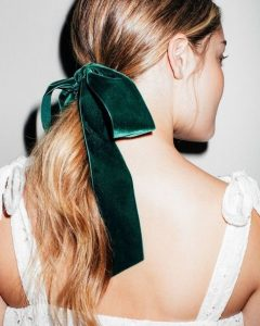 Ponytail Bridal Hairstyles With Headband And Bow