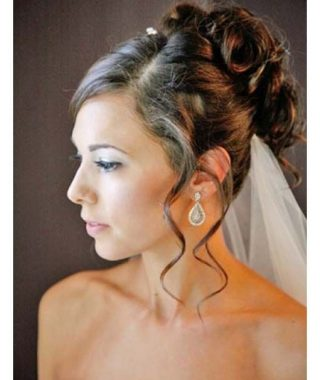 Curled Bridal Hairstyles With Tendrils