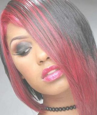 Red And Black Medium Hairstyles