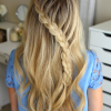 Diagonal Waterfall Braid In Half Up Bridal Hairstyles (Photo 11 of 25)