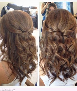 Curled Half-Up Hairstyles