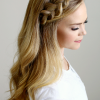 Headband Braid Hairstyles With Long Waves (Photo 2 of 25)