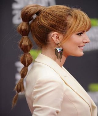 High Bubble Ponytail Hairstyles