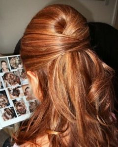 Bouffant Half Updo Wedding Hairstyles For Long Hair