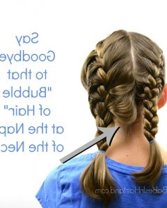 French Braid Hairstyles With Bubbles