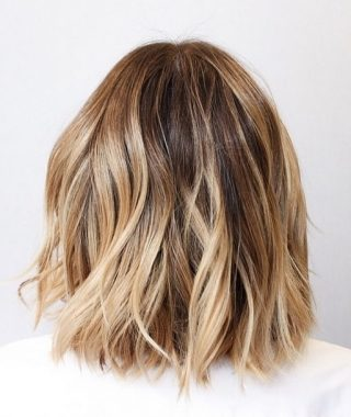 Bronde Bob With Highlighted Bangs