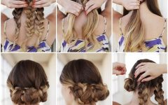 Easy Braid Updo Hairstyles