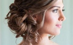 Curly Side Bun Wedding Hairstyles