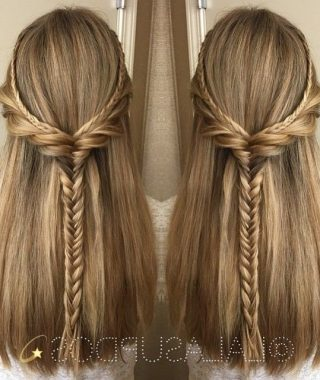 Straight Half Updo Hairstyles