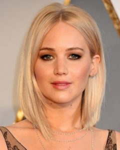 Blonde Lob Hairstyles With Middle Parting