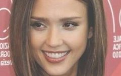 Jessica Alba Long Bob Haircuts