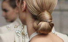 Blonde Polished Updos Hairstyles For Wedding