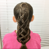 Lattice-Weave With High-Braided Ponytail (Photo 15 of 15)
