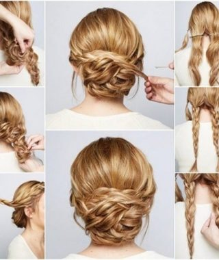 Hair Updo Hairstyles For Thick Hair