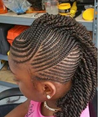 Small Braids Mohawk Hairstyles