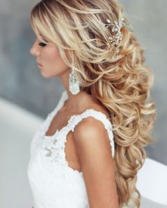 Curly Long Updos For Wedding