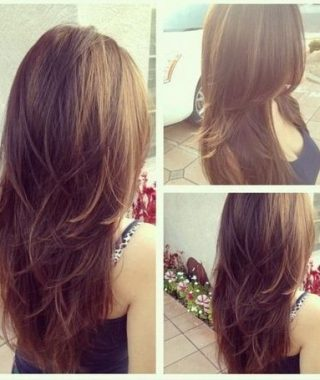 Long Hairstyles Layers Back View