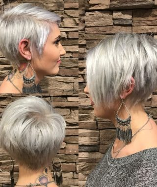 Stacked Pixie-Bob Haircuts With Long Bangs
