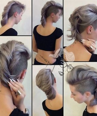 Medium Length Mohawk Hairstyles With Shaved Sides