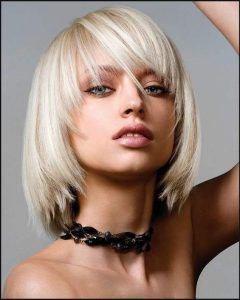 Poker-Straight Cool Blonde Style