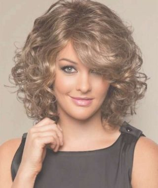 Curly Medium Hairstyles For Round Faces