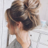 Casual Bun With Highlights