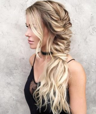 Messy Side Fishtail Braid Hairstyles