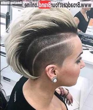 Mohawk Hairstyles With Length And Frosted Tips