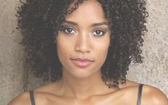 Curly Black Medium Hairstyles