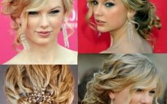Formal Curly Updos With Bangs For Wedding