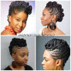 Natural Updo Cornrow Hairstyles (Photo 13 of 15)
