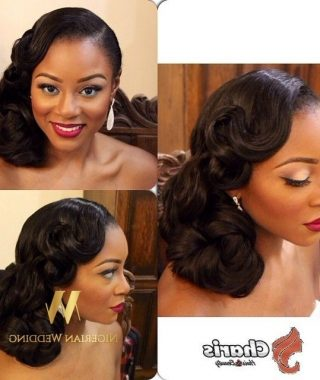 Wedding Hairstyles For African Bridesmaids