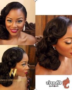 Wedding Hairstyles For Black Bridesmaids