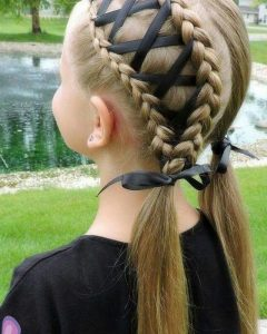 Braided Ribbon Hairstyles
