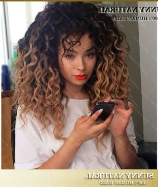 Brown To Blonde Ombre Curls Hairstyles