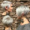 Flipped Up Platinum Blonde Pixie Haircuts (Photo 2 of 25)