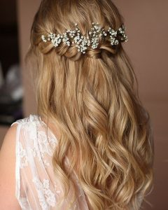 Crown Braid, Bouffant And Headpiece Bridal Hairstyles