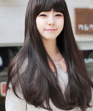 Blunt Bangs Asian Hairstyles