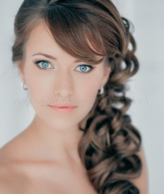 Wedding Hairstyles Long Side Ponytail Hair