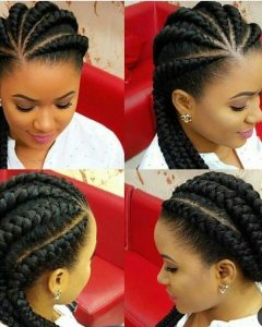 Thick Cornrows Hairstyles